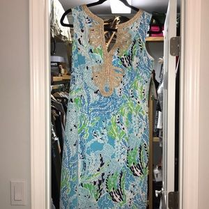 Lilly Pulitzer Dresses - NWT Lilly Pulitzer Janice Shift Spa Blue size 4